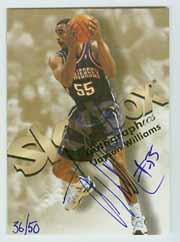 1998-99 SkyBox Premium Autographics Blue #136 Jayson Williams