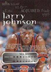 1998-99 SkyBox Thunder #2 Larry Johnson back image