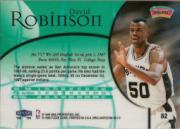 1998-99 Fleer Brilliants #82 David Robinson back image