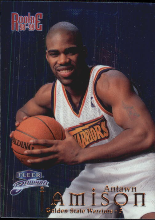 1998-99 Fleer Brilliants Blue #104 Antawn Jamison