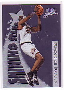 1998-99 Fleer Brilliants Shining Stars #8 Allen Iverson