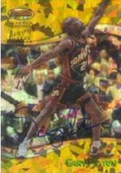 1998-99 Bowman&#039;s Best Autographs Atomic Refractors #A4 Gary Payton