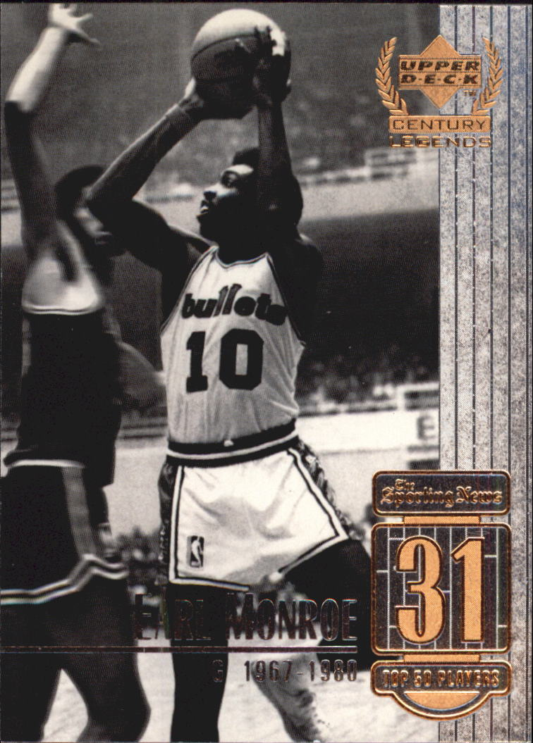 1999 Upper Deck Century Legends #31 Earl Monroe
