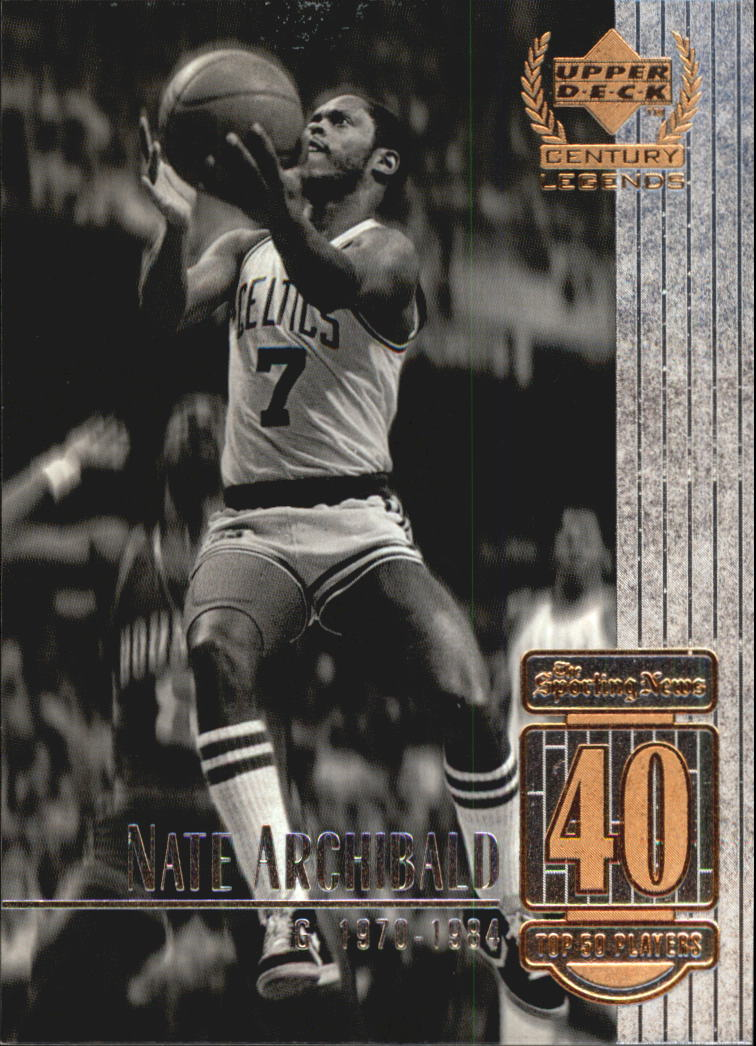 1999 Upper Deck Century Legends #40 Nate Archibald