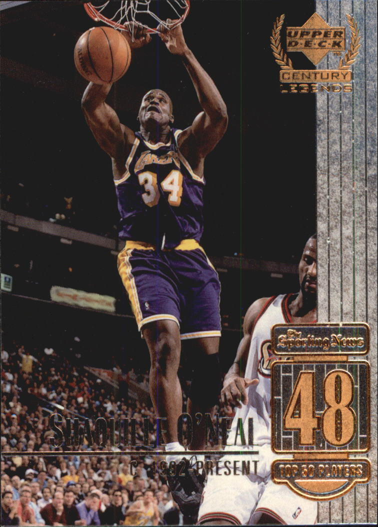 1999 Upper Deck Century Legends #48 Shaquille O'Neal