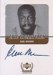 1999 Upper Deck Century Legends Epic Signatures #EM Earl Monroe