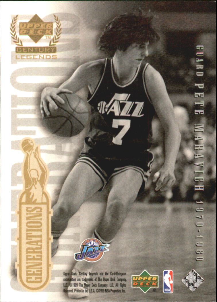 1999 Upper Deck Century Legends Generations #G4 Jason Williams/Pete Maravich