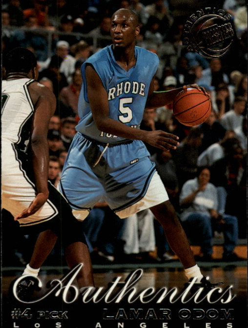 1999 Press Pass Authentics Hang Time #4 Lamar Odom