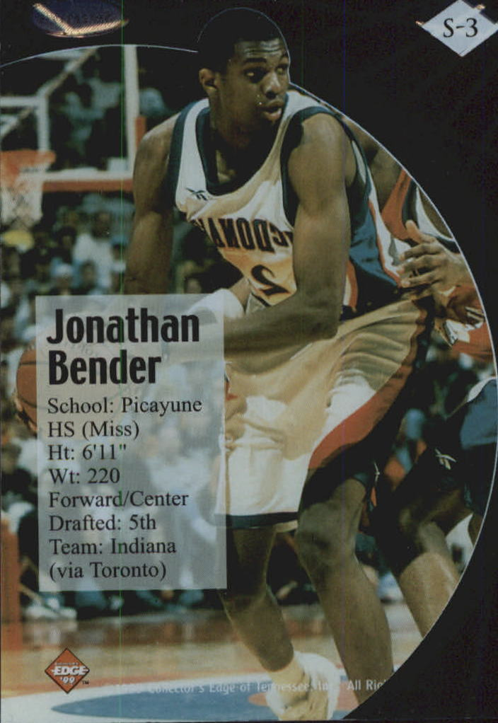 1999 Collector's Edge Rookie Rage Successors #S3 Jonathan Bender back image