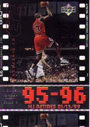 1999 Upper Deck Michael Jordan Retirement #11 Michael Jordan/70th win