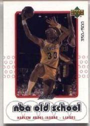 1999-00 Upper Deck Retro Old School/New School Parallel #S14 Kareem Abdul-Jabbar