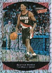 1999-00 Ultimate Victory Parallel 100 #66 Scottie Pippen