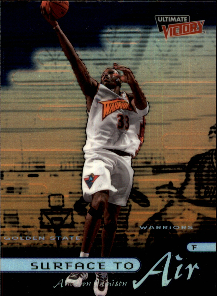 1999-00 Ultimate Victory Surface to Air #SA2 Antawn Jamison