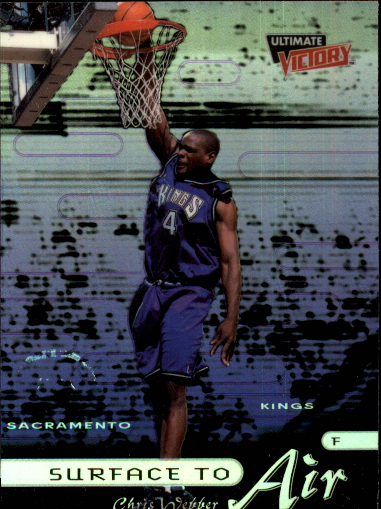1999-00 Ultimate Victory Surface to Air #SA9 Chris Webber
