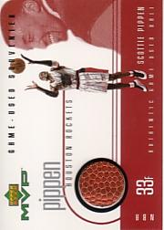 1999-00 Upper Deck MVP Game-Used Souvenirs #SPS Scottie Pippen