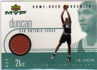 1999-00 Upper Deck MVP Game-Used Souvenirs #TDS Tim Duncan