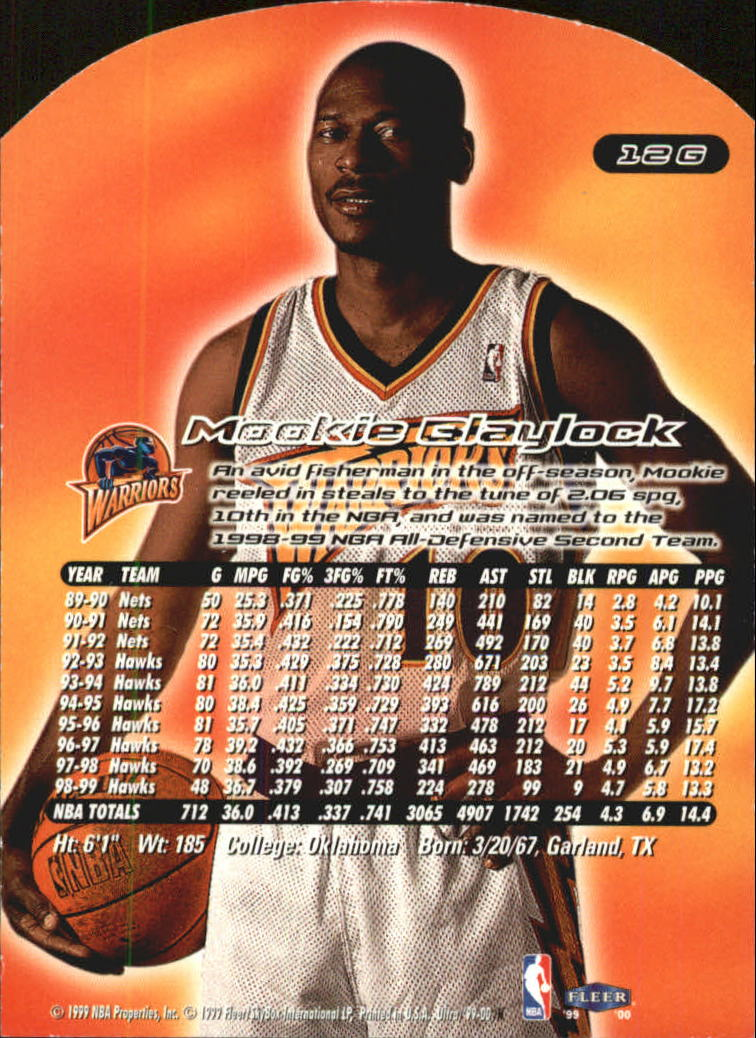 1999-00 Ultra Gold Medallion #12 Mookie Blaylock back image