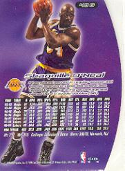 1999-00 Ultra Gold Medallion #40 Shaquille O'Neal back image