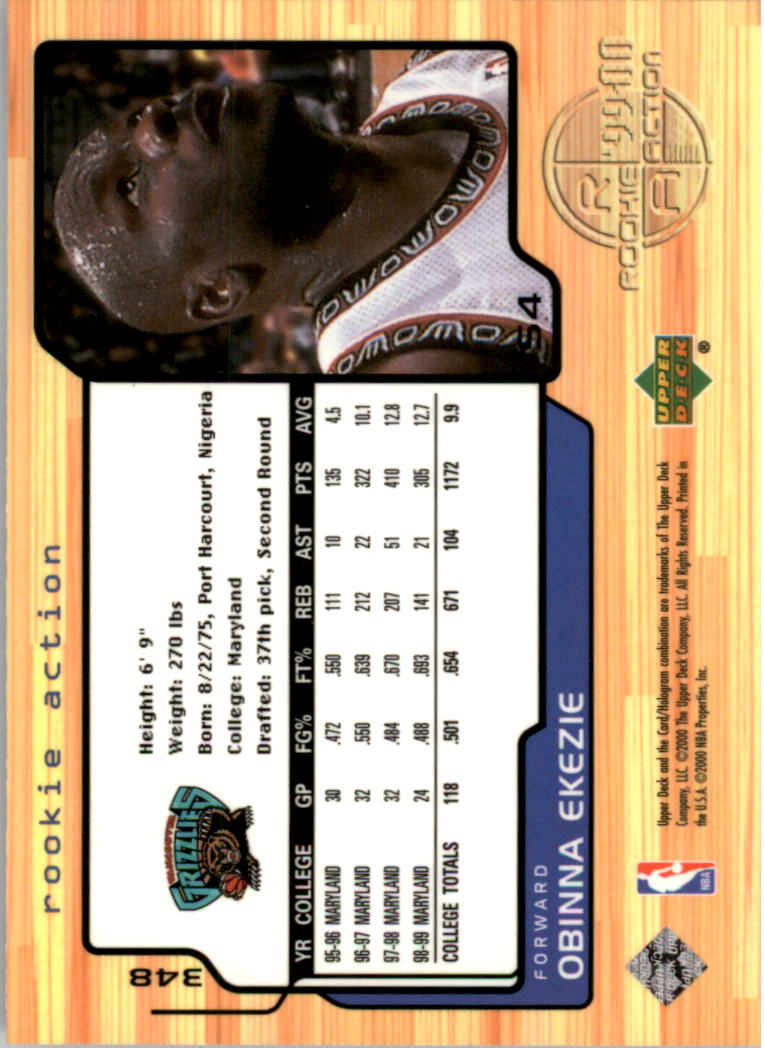 1999-00 Upper Deck #348 Obinna Ekezie RC