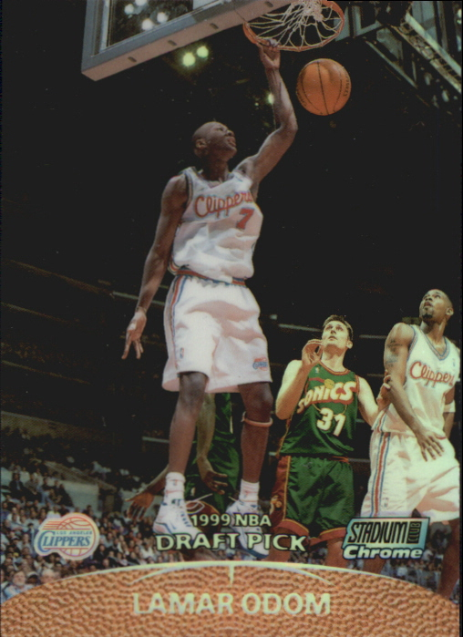 1999-00 Stadium Club Chrome Previews Refractors #SCC18 Lamar Odom