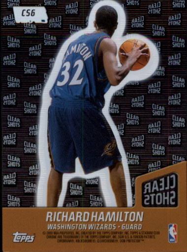 1999-00 Stadium Club Chrome Clear Shots #CS6 Richard Hamilton back image