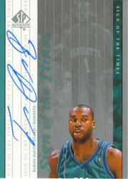 1999-00 SP Authentic Sign of the Times #BD Baron Davis