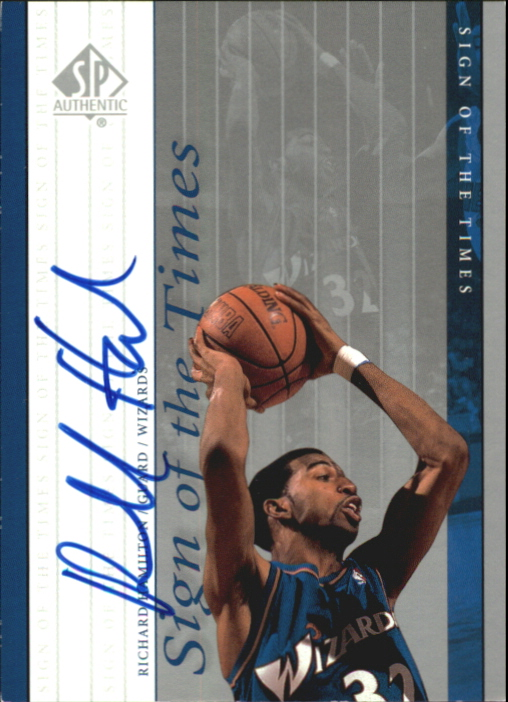 1999-00 SP Authentic Sign of the Times #RH Richard Hamilton