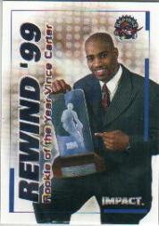 1999-00 SkyBox Impact Rewind '99 #RN14 Vince Carter