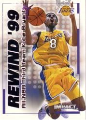 1999-00 SkyBox Impact Rewind '99 #RN28 Kobe Bryant