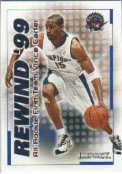 1999-00 SkyBox Impact Rewind '99 #RN30 Vince Carter