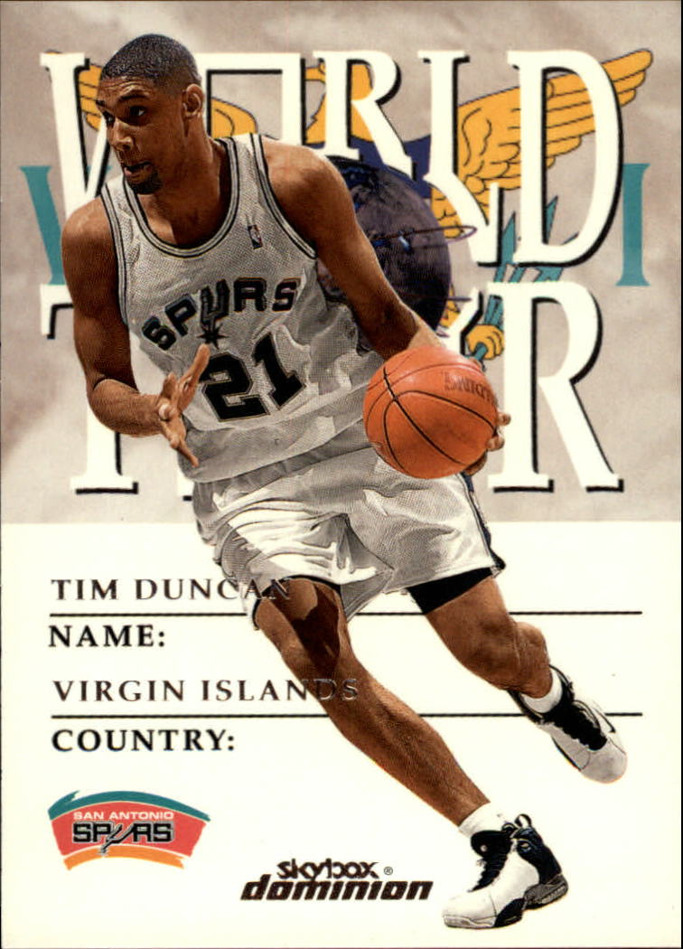 1999-00 SkyBox Dominion #178 Tim Duncan WT