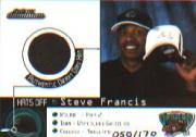1999-00 SkyBox Dominion Hats Off #2 Steve Francis/170