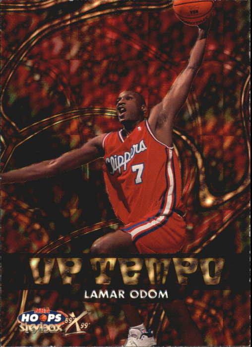 1999-00 Hoops Decade Up Tempo Parallel #UT15 Lamar Odom