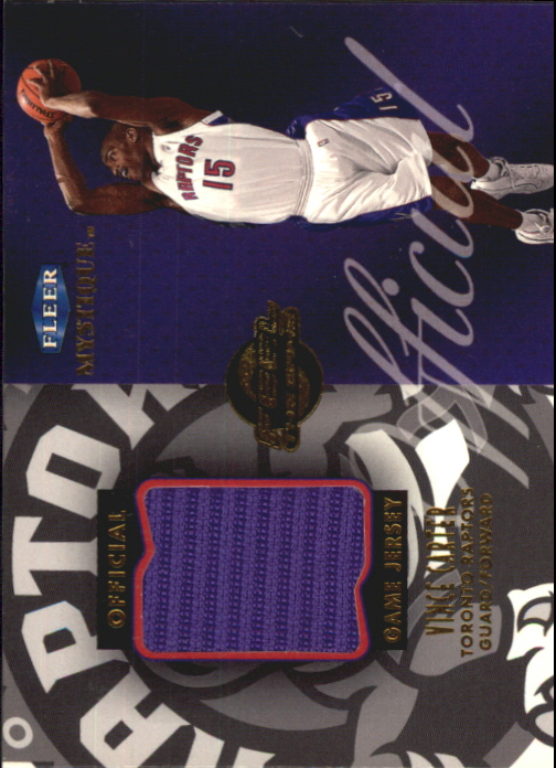 1999-00 Fleer Mystique Feel the Game #1 Vince Carter
