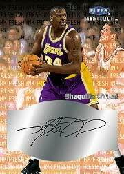 1999-00 Fleer Mystique Fresh Ink #30 Shaquille O'Neal