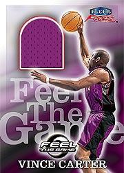 1999-00 Fleer Focus Feel the Game #1 Vince Carter