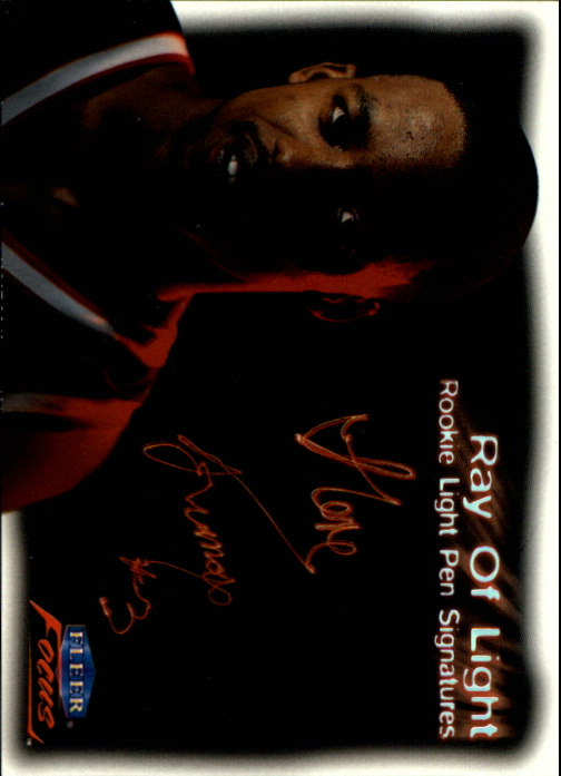 1999-00 Fleer Focus Ray of Light #RL11 Steve Francis