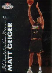 1999-00 Fleer Force #34 Matt Geiger