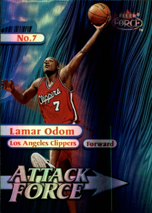 1999-00 Fleer Force Attack Force Forcefield #A2 Lamar Odom