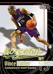 1999-00 Fleer Force Forceful #F1 Vince Carter
