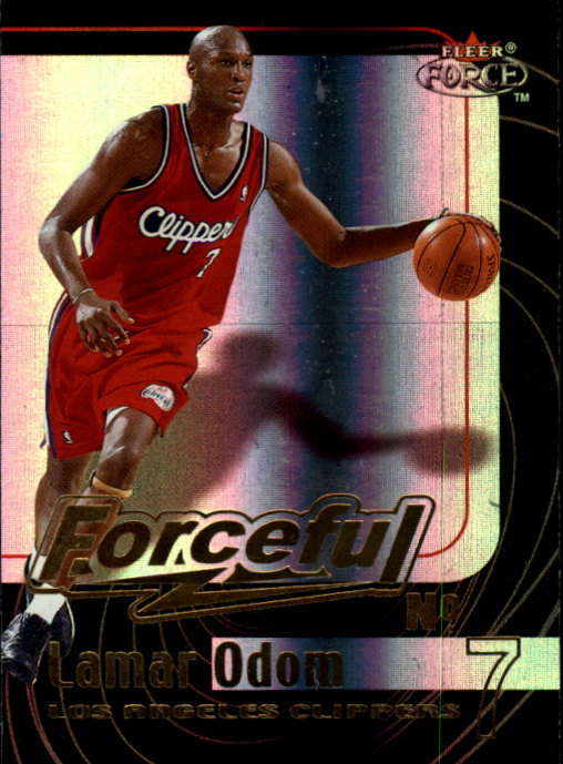 1999-00 Fleer Force Forceful Forcefield #F2 Lamar Odom