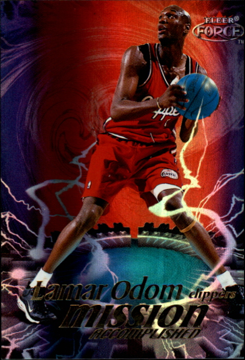 1999-00 Fleer Force Mission Accomplished Forcefield #MA2 Lamar Odom