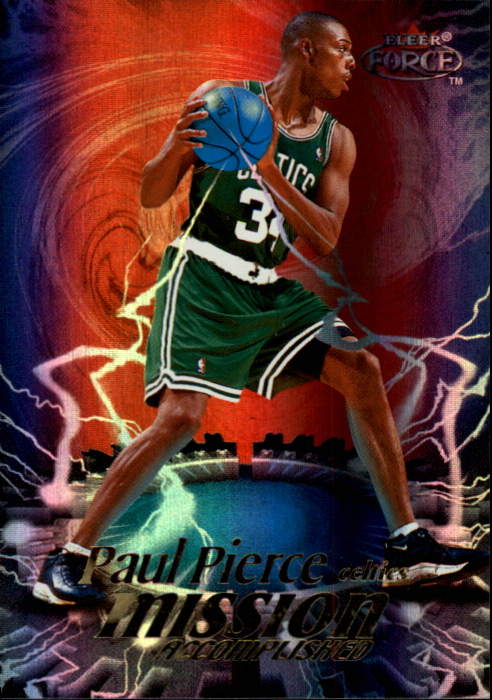 1999-00 Fleer Force Mission Accomplished Forcefield #MA11 Paul Pierce