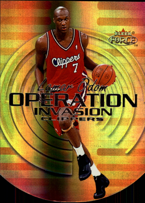 1999-00 Fleer Force Operation Invasion Forcefield #OI2 Lamar Odom