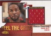 1999-00 Flair Showcase Feel the Game #8 Alonzo Mourning