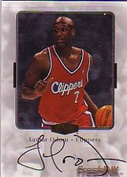 1999-00 Flair Showcase Fresh Ink #21 Lamar Odom