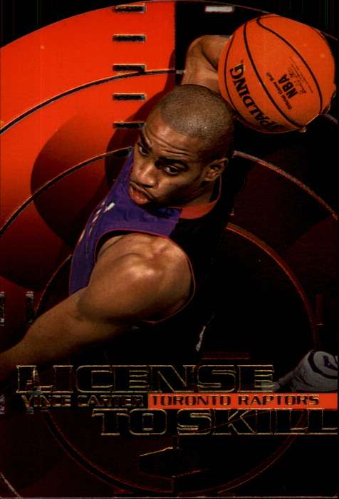 1999-00 Flair Showcase License to Skill #LS1 Vince Carter