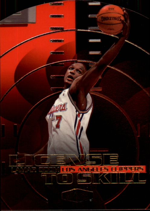 1999-00 Flair Showcase License to Skill #LS10 Lamar Odom