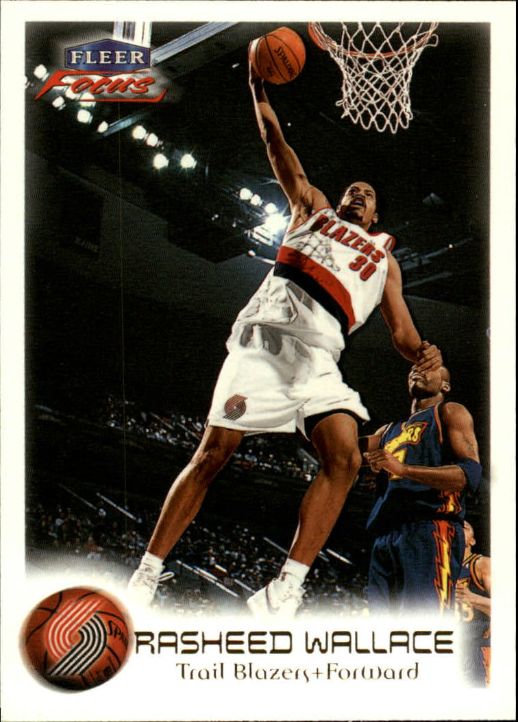 1999-00 Fleer Focus #23 Rasheed Wallace
