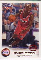 1999-00 Fleer Focus #119A Lamar Odom SP